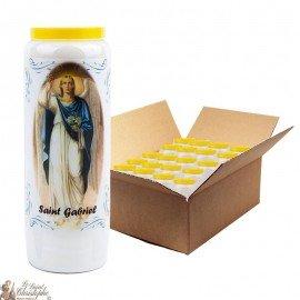 Saint Gabriel Novena Candles - Model 1 - 20 pieces