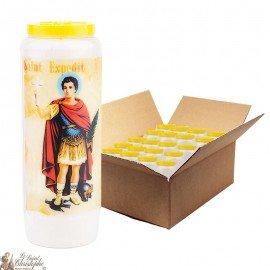 Saint Expedit Novena Candles - 20 pieces