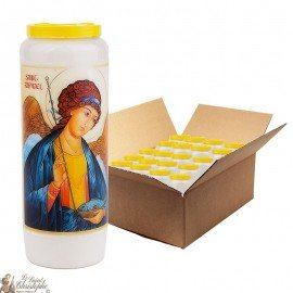 Saint Raphael Novena Candles - Model 1 - 20 pieces