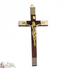 Houten kruis met vergulding