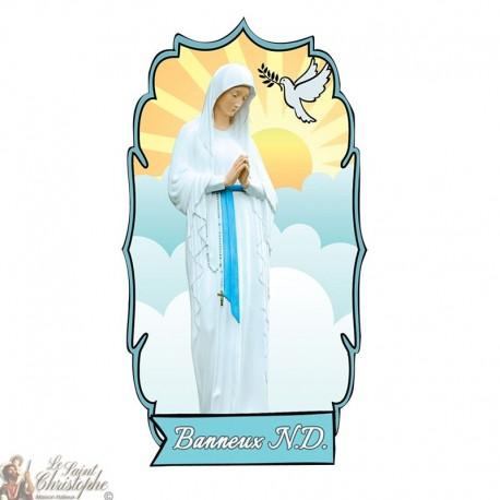 Sticker Vierge des Pauvres de Banneux N.D - 2 - statique fenêtre