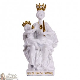 White statue of Our Lady of Lower Wavre