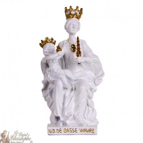 Statue blanche de Notre Dame de Basse Wavre