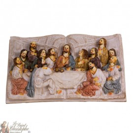 Book-shaped frame of the last supper