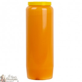 Orange novena candle