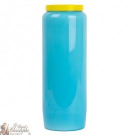 Bougie de neuvaine bleu clair