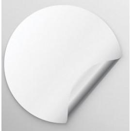 Customizable stickers White Vinyl - 3 x 5 cm