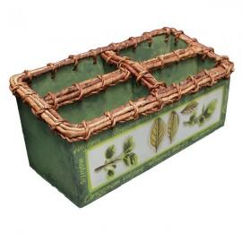 Caja para guardar servilletas decorada al estilo de una casa de campo