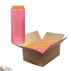 Bougies de neuvaine rose - carton 20 pièces
