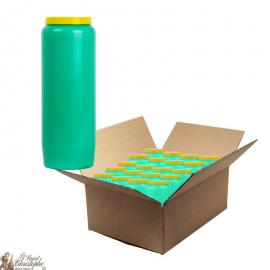 Bougies de neuvaine verte - carton 20 pièces