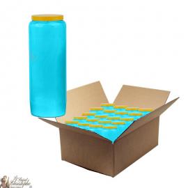 Bougies de neuvaine bleu clair - carton 20 pièces