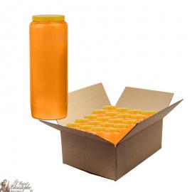 Bougies de neuvaine Orange - carton 20 pièces