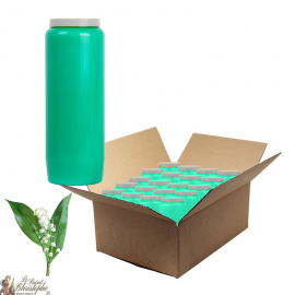 Lily of the valley scented novena candles - box of 20 pieces