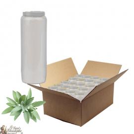 Bougies de neuvaine parfumée à la sauge - carton 20 pièces
