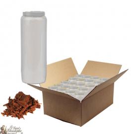Bougies de neuvaine parfumée au bois de santal - carton 20 pièces