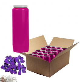 Violet scented novena candles - box of 20 pieces