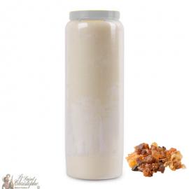 Novena Candle - White - Myrrh perfume