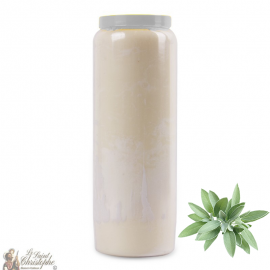 Novena Candle - White - Sage perfume