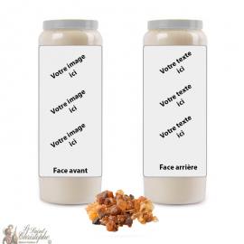 Bougie de neuvaine parfum Myrrhe - personnalisable