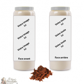 Kaars van novena parfum sandelhout geur - aanpasbaar