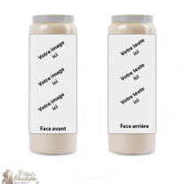 Customizable novena candle