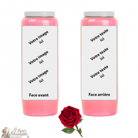 Pink fragrance novena candle - customizable
