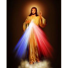 Cartel fotográfico del Cristo Misericordioso - 120 cm