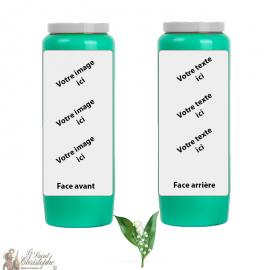 Vela de novena con fragancia Lirio de los Valles - personalizable