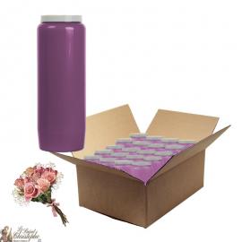 Bougies de neuvaine parfumée Bouquet fleuris - carton 20 pièces