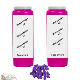 Candela novena profumo viola - personalizzabile