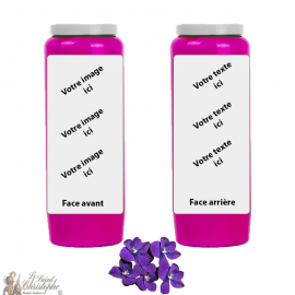 Violet fragrance novena candle - customizable