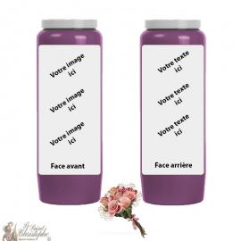 Parfum novena-kaars Bloemenboeket - aanpasbaar