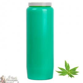 Kaars van heldere groene novena - parfum Verbena