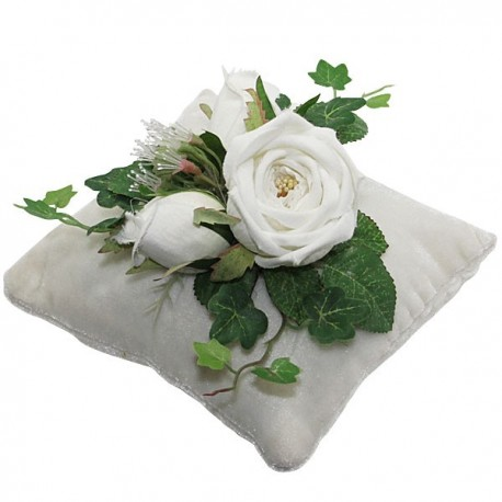 Flowered cushion with vanilla scent