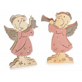 Sprankelende en heldere houten engel