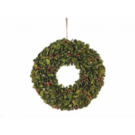 Couronne de Noël avec baies décorative - 42 cm