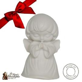 Pequeño ángel de la guarda en alabastro - estatua de regalo