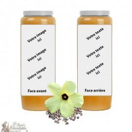 Oranje Muskus geur novena kaars - aanpasbaar