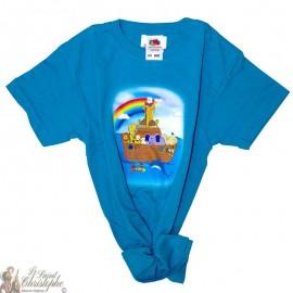 Kinder-T-Shirt - Noah's ark blauw