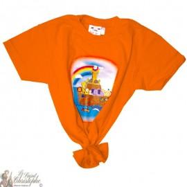 Camiseta para niños - El arca de Noé naranja