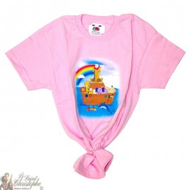 Camiseta para niños - El arca de Noé rosa