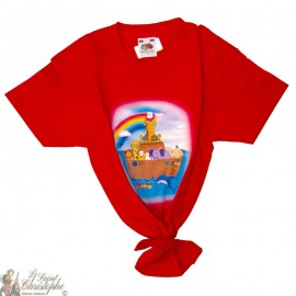 Camiseta para niños - El arca de Noé rojo