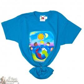 Kinder-T-Shirt - Wereld blauw