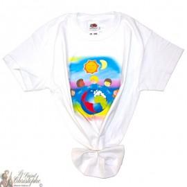 Kinder-T-Shirt - Wereld wit