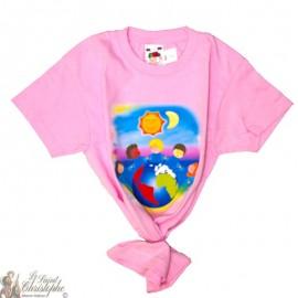 Kinder-T-Shirt - Wereld roze