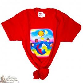 Kinder-T-Shirt - Wereld rood