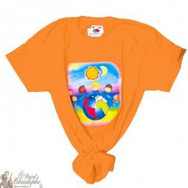 Kinder-T-Shirt - Wereld oranje