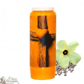 Novena Candle for the deceased with musk - Cross