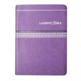 The Holy Bible - Segond 1910 - Purple imitation leather