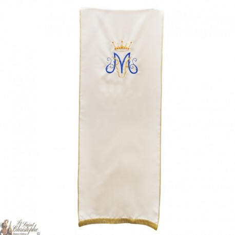 Schleier für einzelnes Rednerpult - Marianisches Symbol